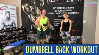 Dumbbell Back Workout || Tone Up || At Home Workout || Build Muscle Women || Versa Gripps