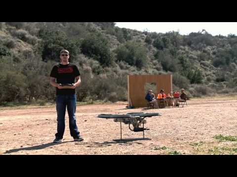 Quadrotor Drone, with Machine Gun! - PATROLLING AMERICAN SKIES ??