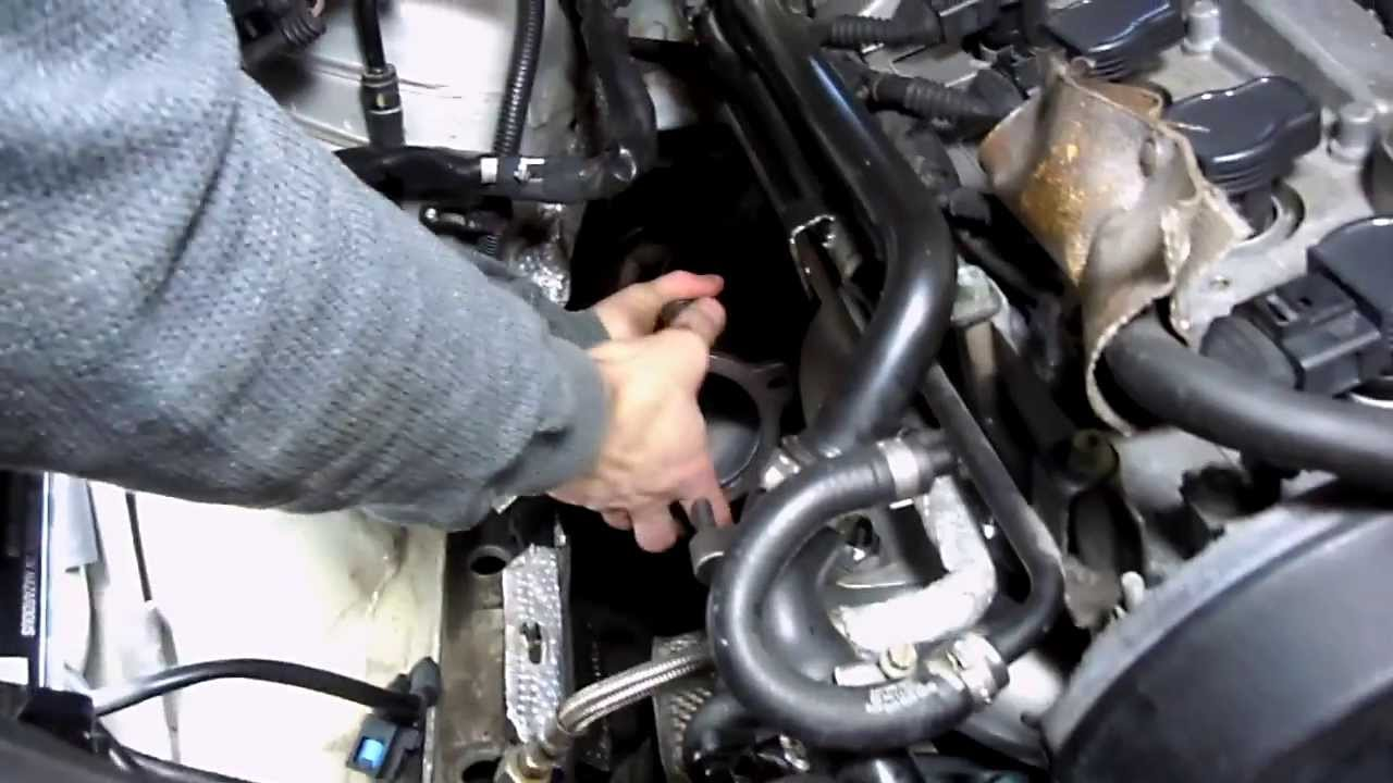 audi a4 1 8t test down pipe removal through engine bay. Black Bedroom Furniture Sets. Home Design Ideas