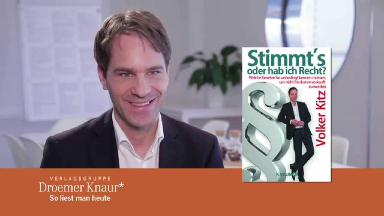 Verbraucheranwalt und spiegel bestsellerautor volker kitz for Spiegel verlagsgruppe