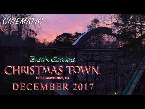 Busch gardens williamsburg december 2017 cinematic christmas town youtube for Christmas town busch gardens williamsburg 2017