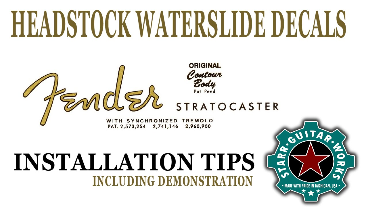 Fender Bass Vi Wiring Diagram Custom Guitar Headstock Logo Waterslide Decal Installation