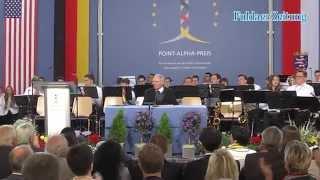 Bundesfinanzminister Schäuble mit Point-Alpha-Preis geehrt