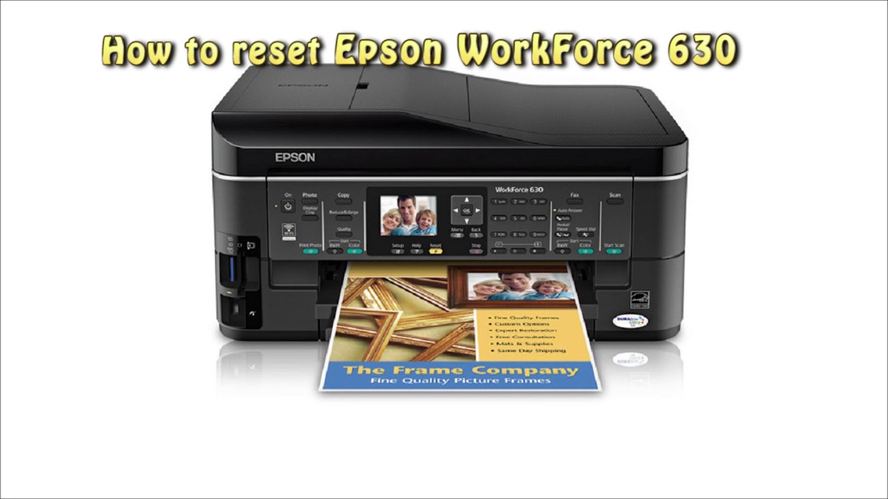 Reset Epson Workforce 630 Waste Ink Pad Counter Youtube