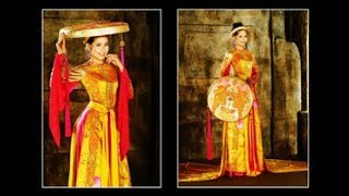 Kiểu Mẫu Áo Dài Việt Nam - La Mode Vietnamienne - Vietnamese Long Dress.