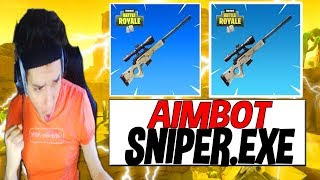 TOP 1 J'ACTIVE LE AIMBOT SNIPER SUR FORTNITE BATTLE ROYALE !!!