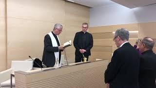 Inauguració de la nova sala d'actes del Casal Parroquial de La Seu d'Urgell