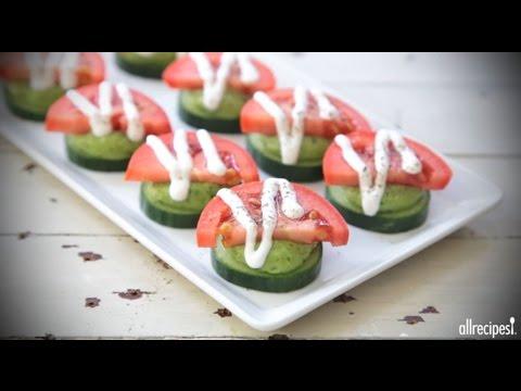 How to Make Avocado Basil Cucumber Bites   Appetizer Recipes   Allrecipes.com