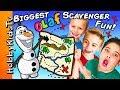 GIANT OLAF Treasure Clues Adventure!