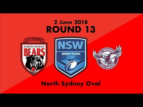 2018 Highlights - North Sydney Bears Vs Manly-Warrigah Sea Eagles - Round 13 Jersey Flegg Cup