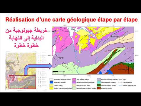 Create a geological map step by step