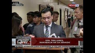 QRT: Sen. Trillanes, nakabalik na sa Senado