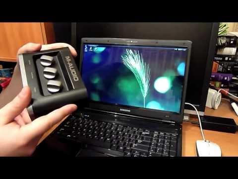Подключаем и настраиваем звуковую карту M-Audio Fast Track