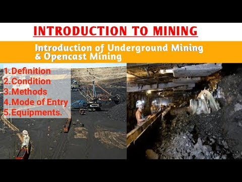 INTRODUCTION TO MINING | WHAT IS MINING | TYPES OF MINING