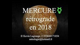 Mercure rétrograde en 2018