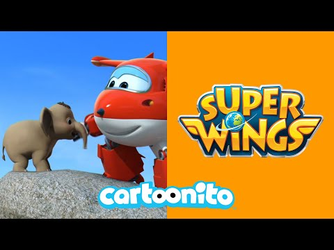 Super Wings | Elephant Rescue | Cartoonito