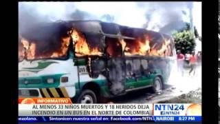 Repeat youtube video Conductor de vehículo incinerado en Colombia no tenía licencia