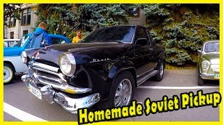Homemade Soviet Pickup Truck GAZ Volga 21. Custom Russian Classic Cars. Big Soviet Cars Show