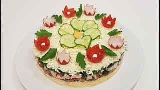 САЛАТ с КРАБОВЫМ МЯСОМ ( salad with crab meat )