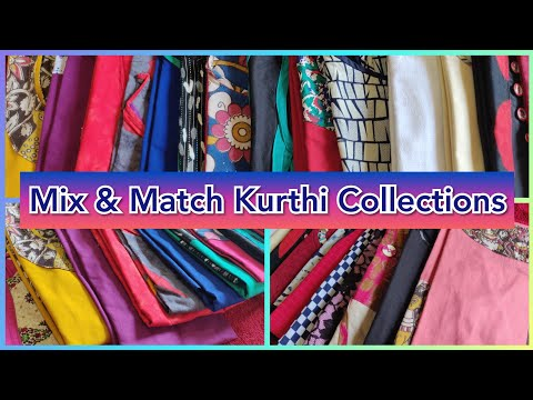 Mix & Match Kurthis Collections & Ideas   How to design the mix and match Kurthis?