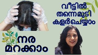 How To Color Hair at Home |  Cover Grey Hair at Home | L'oreal Paris  Hair Color | Malayalam