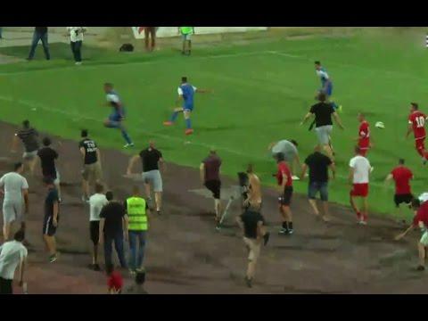 Pitch invasion during CSKA Sofia - Ashdod |  friendly game 02.08.2015