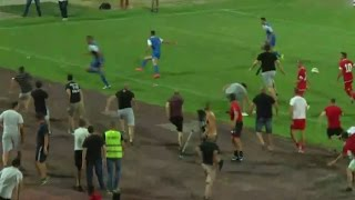 Pitch invasion during CSKA Sofia - Ashdod |  friendly game 02.08.2015(Pitch invasion during CSKA Sofia(Bulgaria) - Ashdod(Israel) | friendly game 02.08.2015 video credit: sportal.bg., 2015-08-02T19:18:21.000Z)