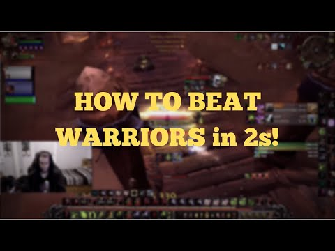 How To Beat Warriors in 2s! - Warlock POV 2v2 Arena (BFA World of Warcraft)