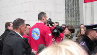 Vitali Klitschko at Opposition Rally Outside Verkhovna Rada 4/4