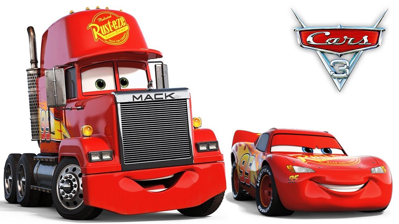 Disney Cars 3 Mack Truck Mcqueen Crash race tracks Cartoon for Children