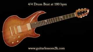 Drum Beats To Practice With: 4/4 Drum Beat at 180 BPM