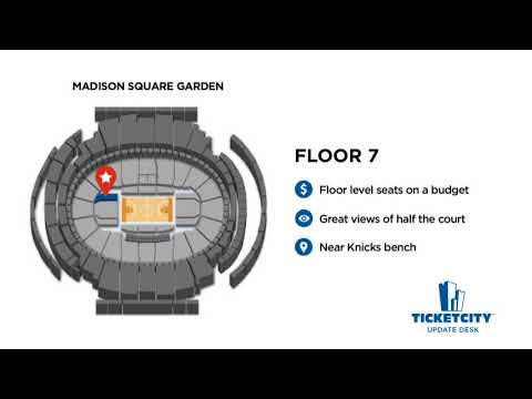 Madison Square Garden Seat Recommendations - The TicketCity Update Desk