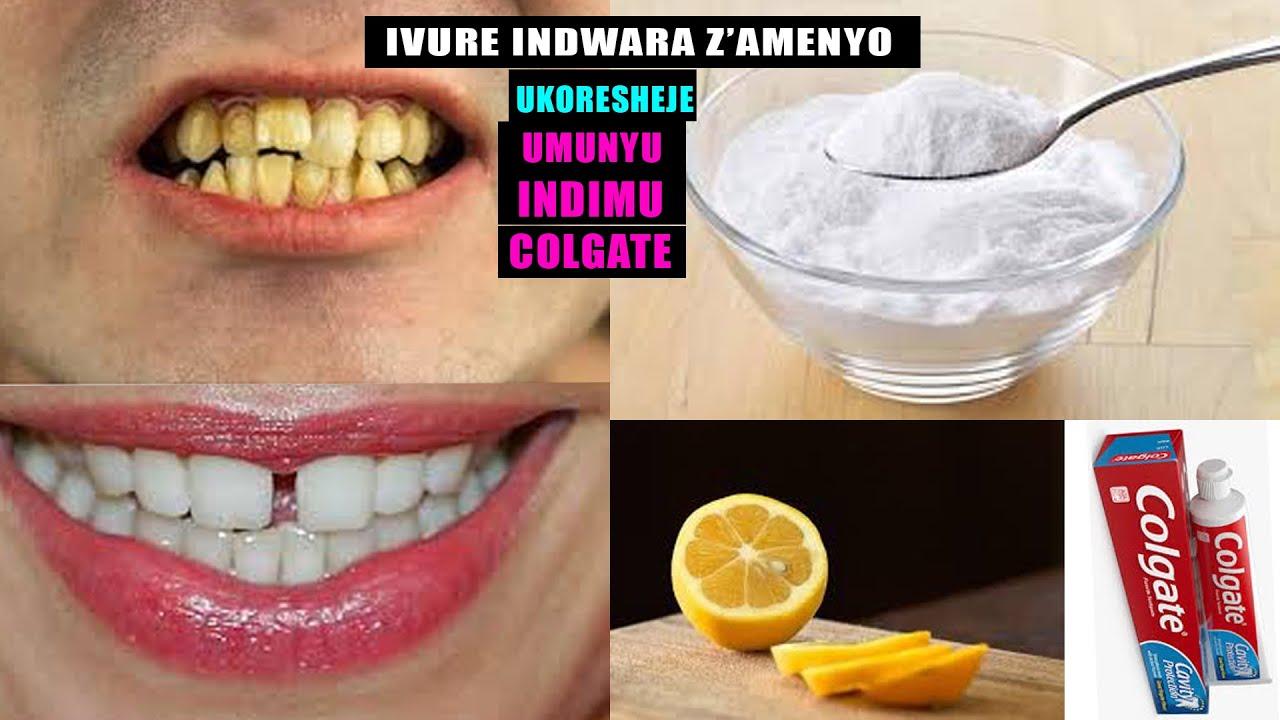 IBANGO RY'UBUZIMA  Video 01:Gusukura Amenyo agahinduka umweru/WHITENING YOUR TEETH IN ONLY 3 MI