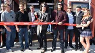 Rock & Brews Oviedo Florida Ribbon Cutting with Paul Stanley and Gene Simmons of KISS