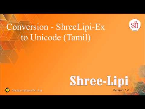 Conversion - SLX to Unicode (Tamil)
