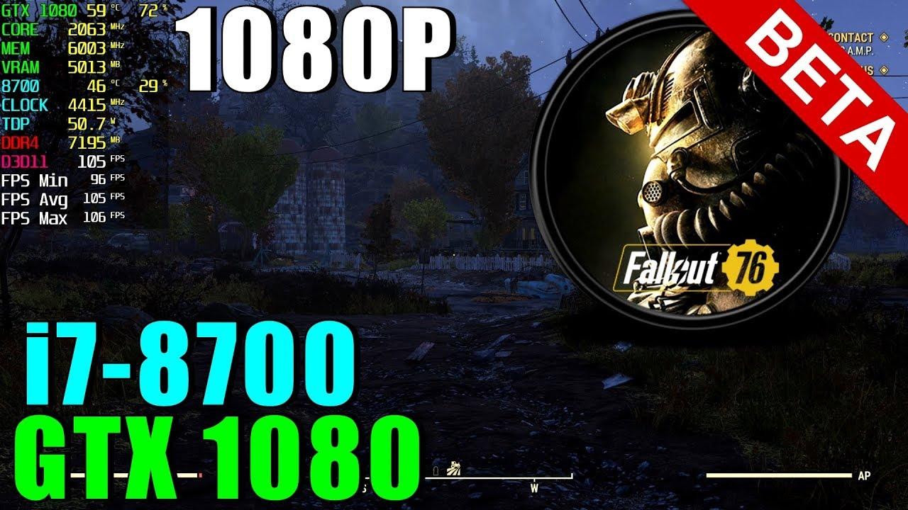 Fallout 76 GTX 1080 OC & i7 8700@4 4GHZ [ Ultra - 1080P ]