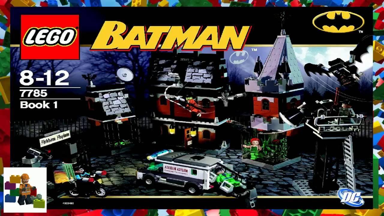 Lego Instructions Batman Arkham Asylum 7785 Book 1 Youtube