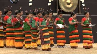 Dimasa-Kachari women perform plate dance