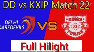 IPL 2018 # 22  Match full hilight, live   Dehli Dradavils vs kings elevan Punjab new full hilight