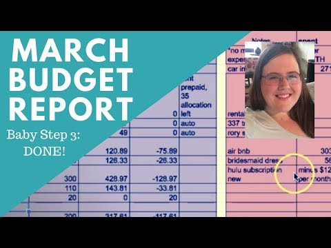 FULLY FUNDED EMERGENCY FUND DONE! - March Budget Report!