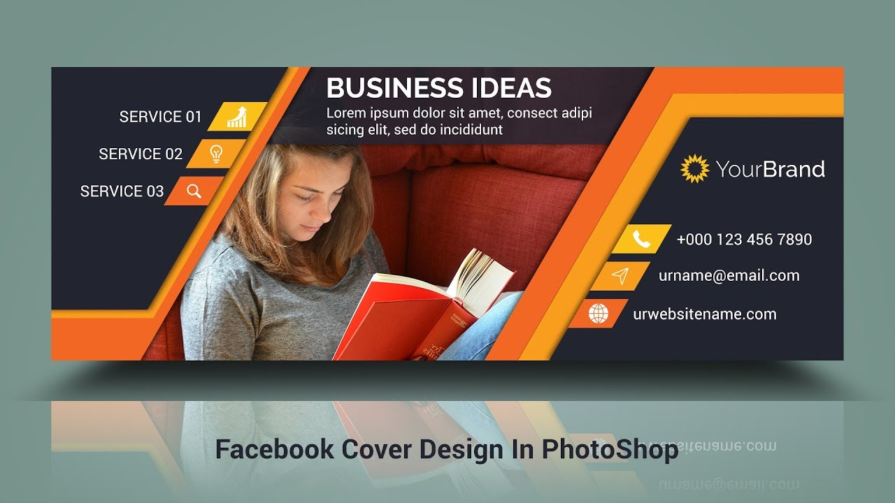 Facebook Cover Photo Design | In Photoshop CC  Hindi / Urdu Tutorial