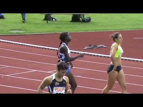 Deutsche Junioren Meisterschaften Regensburg - 100m women heat 3 - Lauf 3