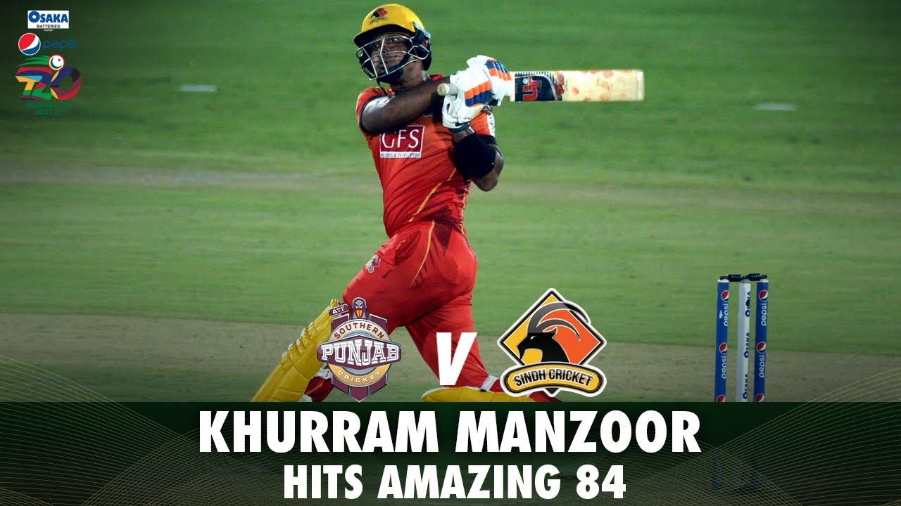 Khurram Manzoor Hits Amazing 84 | Southern Punjab vs Sindh | Match 3 | National T20 2021 | PCB |MH1T