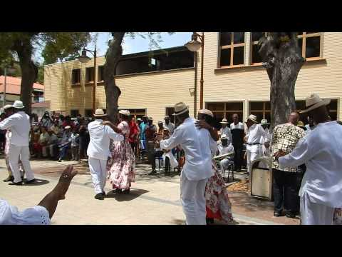 Traditional Martinique dancers in the Saint Anne Square.