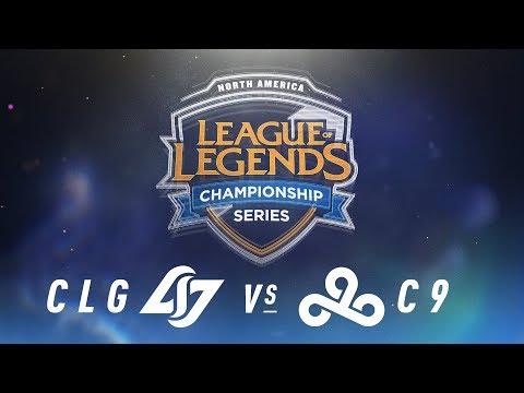 CLG vs. C9 - Week 7 Day 1 | NA LCS Spring Split | Counter Logic Gaming vs. Cloud9 (2018)