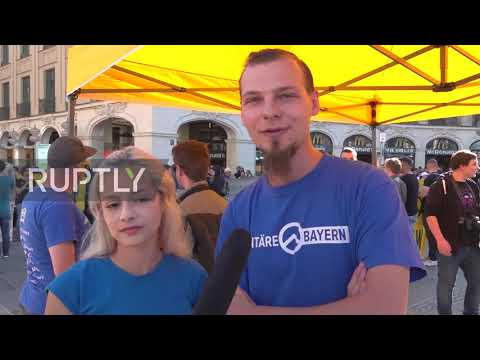 Germany: Identitarian Demo Met With Counter Protest In Munich