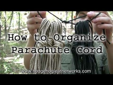 Parachute Cord / 550 Cord Management and Storage - Wilderness Survival
