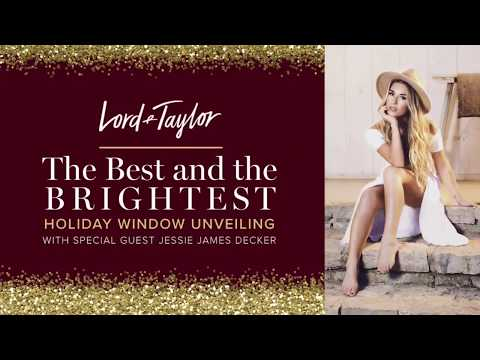 Jessie James Decker Performs for Lord & Taylor's Holiday Window Unveiling