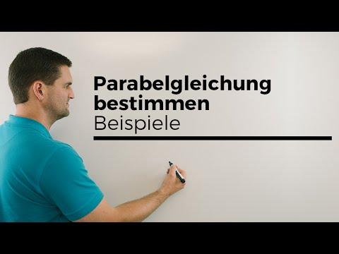 Parabelgleichung bestimmen, Beispiele, Quadratische Funktion aufstellen | Mathe by Daniel Jung from YouTube · Duration:  3 minutes 58 seconds