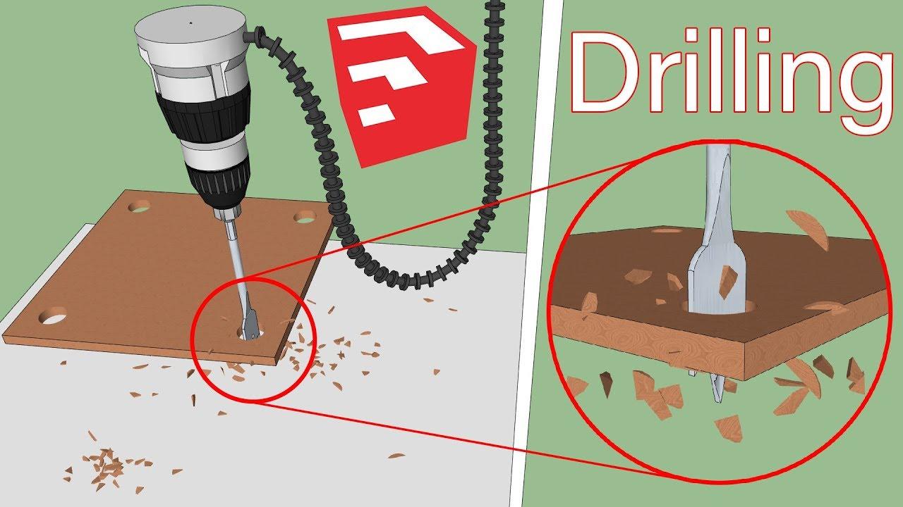 Drilling Holes in Wood   SketchUp Plugins   MSPhysics